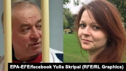 A photo of Sergei Skripal (L) and his daughter Yulia