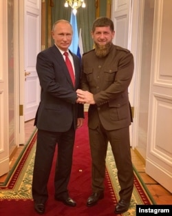 President of Russia Vladimir Putin with the governor of Chechnya Ramzan Kadyrov