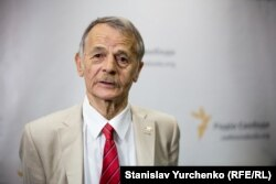 Kyiv, Ukraine - The national leader of the Crimean Tatar people Mustafa Dzhemilev, 20Aug2015