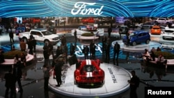 USA -- North American International Auto Show in Detroit. January 9, 2017