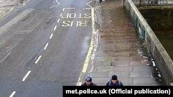 U.K. -- Metropolitan Police statement -- Novichok – At 13.05 on Sunday, 4 March, the suspects Aleksander Petrov and Ruslan Boshirov are caught on CCTV in Fisherton Street, in Salisbury town centre, heading towards the train station.