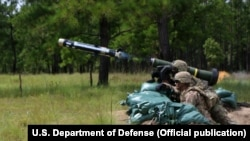 Soldiers of 3rd Battalion, 15th Infantry Regiment, 2nd Infantry Brigade Combat Team, 3rd Infantry Division, fire a Javelin weapons systems at Fort Stewart, Ga., August 23, 2017. The Javelin weapons system is a medium anti-tank, portable missile launcher