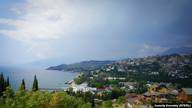 UKRAINE - Malorechenskoe village, South Coast of Crimea in summer, July 14, 2018.