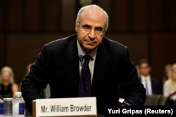 U.S. -- Hermitage Capital CEO William Browder arrives to testify before a continuation of Senate Judiciary Committee hearing on alleged Russian meddling in the 2016 presidential election on Capitol Hill in Washington, July 27, 2017.