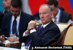 KAZAKHSTAN -- Russian Security Council Secretary Nikolai Patrushev attends a meeting of the Collective Security Treaty Organization (CSTO) in Astana, November 8, 2018.