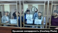 RUSSIA – Crimean political prisoners staged a rally on the anniversary of deportation in the courtroom, Rostov-on-Don, 18 May 2020.