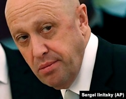 RUSSIA--Russian businessman Yevgeny Prigozhin prior to a meeting with Russian President Vladimir Putin and Chinese President Xi Jinping in the Kremlin, July 4, 2017.