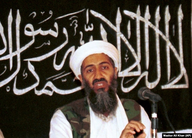 Osama bin Laden is seen at a news conference in Khost, 1998. One of his grievances was the presence of U.S. troops in Saudi Arabia after the Gulf War.