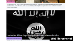 888.hu, a popular Hungarian news site. The story says that the Islamic State will send migrants to Europe.