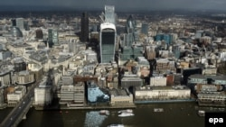 U.K. -- A general view of one London's finanical centres, the city of London, central London, England, 28 January 2014.