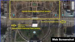 White House permit map