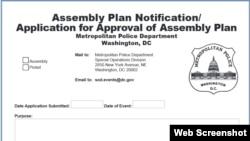 DC Metro Police Permit Application