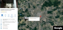 Google Maps -Eurasian Economic Commission, Moscow, Russia