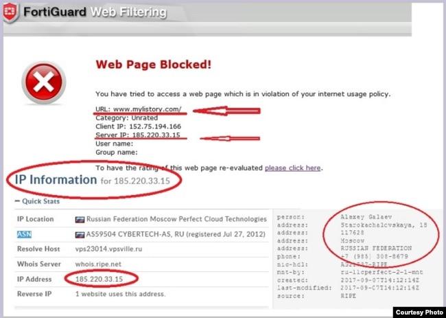 Mylistory.com: The revelations of tracing the IP address