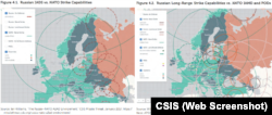 Russian and NATO strike capabilities in Europe