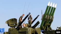 Russia -- Russian rocket system 'Buk-M2' on display during the MAKS 2011 airshow in the town of Zhukovsky, outside Moscow, August 17, 2011
