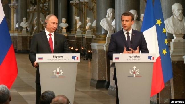Macron Accuses Russian State Media Of 'Propaganda' video grab