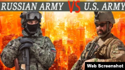 Russian Army vs U.S. Army: Military Power Comparison, 2016. Screenshot from http://bezdonnyj.com/en/