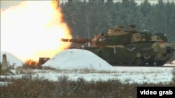 U.S.-Polish military drills on January 30, 2017.