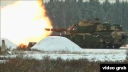 U.S.-Polish military drills on January 30, 2017.