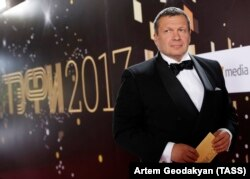 "Moscow, Russia -- TV presenter Vladimir Solovyov before the ceremony ""TEFI - 2017""."