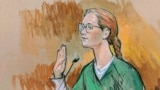 U.S. - Accused Russian agent Maria Butina pleads guilty to a single conspiracy charge in a deal with prosecutors and admitted to working with a top Russian official to infiltrate a powerful gun rights group and influence U.S. policy toward Moscow, in this Reuters courtroom sketch