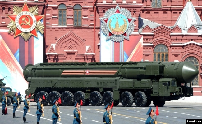 MOSCOW -- Military parade on Red Square on May 9, 2016.