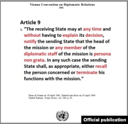 Article 9 of the Vienna Convention on Diplomatic Relations