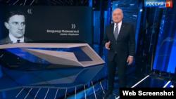 Dmitry Kiselyov raps some verses from Soviet poet Vladimir Mayakovsky