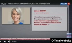 Nikita Mikhalkov's TV Show Misusing Jill Dougherty's Quote on Ukraine