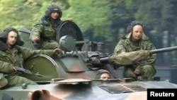 Georgia - Abkhazia - Russian troops in Abkhazia, May 2008, in the lead-up to the Russia-Georgia war - screen grab Reuters.