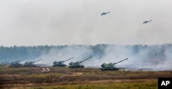 Russia and Belarus taking part in military exercises Zapad in Borisov, Belarus, Sep. 20, 2017