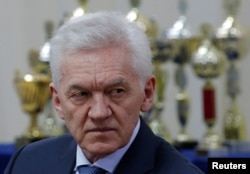 Russia -- Russian tycoon Gennady Timchenko attends a meeting of Russian President Vladimir Putin with members of the presidential council for physical culture and sports in the southern city of Krasnodar, Russia, May 23, 2017.