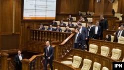 Moldova - Moldovan Prime Minister Pavel Filip in Parliament, Chisinau