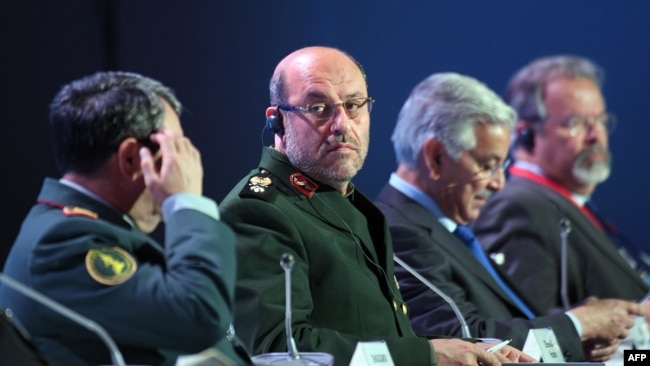 Russia -- Iranian Defense Minister Hossein Dehghan (2nd L) attends the 6th Moscow Conference on International Security (MCIS) in Moscow, April 26, 2017