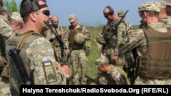 UKRAINE -- During tactical exercises on the Yavoriv landfill in the Lviv region