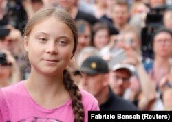 "Berlin, Germany - Greta Thunberg / Swedish environmental activist Greta Thunberg attends ""Fridays for Future"" protest, claiming for urgent measures to combat climate change, in Berlin, Germany, July 19, 2019. REUTERS/Fabrizio Bensch"