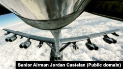 An Air Force B-52 Stratofortress refuels. Feb. 15, 2017.