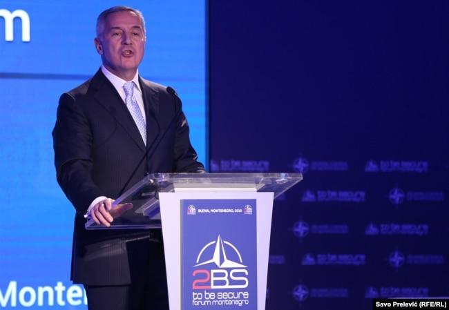 Montenegro - President of Montenegro Milo Djukanovic (l) To Be Secure (2BS) Forum, Budva, 31May2019