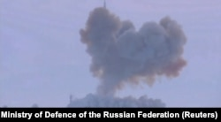 RUSSIA -- A still image taken from a video footage and released by Russia's Defence Ministry on December 26, 2018, shows a test launch of the Avangard system in the Orenburg region.
