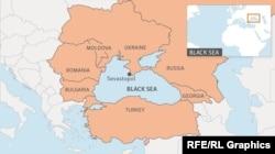 Map of the Black Sea region.