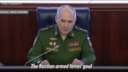 Russia's Top Gen. Sergei Rudskoi Announces Liberation of Syria from IS